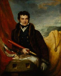 Portrait of Sir William Edward Parry, before 1820 by Samuel Drummond (British 1765–1844)....In 1819 Parry was appointed to command an expedition to search for a North-West Passage to the Pacific. The trip was successful and returned with much scientific material. Parry's care for his men, his solution of many of the problems of wintering in the ice, and his meticulous scientific work set a pattern of Arctic exploration for a generation....good portrait, too...