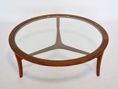 Danish Coffee Table In Teak & Glass via 1stdibs #Coffee_Table #Danish_Modern