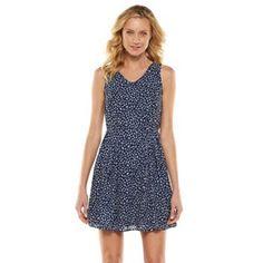LC Lauren Conrad Crepe Fit & Flare Dress - Women's