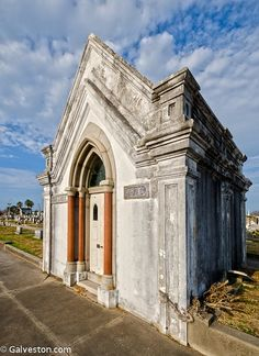 1n 1840, the Galveston City Company deeded a four block tract to the City of Galveston for use as a burial site. The Old Catholic Cemetery, one of seven cemeteries within the Broadway Cemetery, is on one of the original four lots. More than 1,500 people are interred in the cemetery.  Bishop John M. Odin, Texas' first Catholic bishop, in February 1845 acquired the deed for the cemetery two years before establishment of the Diocese of Galveston.