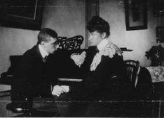 Igor Stravinsky and his first wife, Katya.