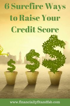 6 Surefire Ways to Increase your Credit Score (Video) - Credit Score Raise - IDeas of Credit Score Raise - 6 Surefire Ways to Raise Your Credit Score Paying Off Credit Cards, Best Credit Cards, Credit Score Range, Fix Your Credit, Credit Bureaus, Credit Report, Student Loan Debt, Budgeting Finances, Budgeting Tips