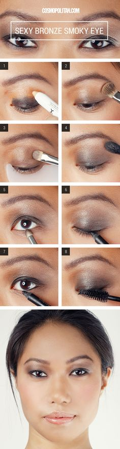 Makeup How-To: Sexy Bronze Smoky Eyes