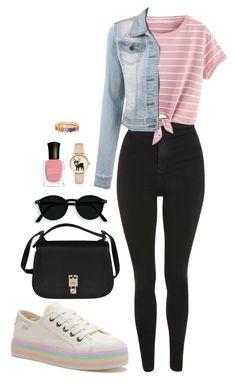 Street style by dalma-m on Polyvore featuring polyvore fashion style Topshop Valentino Deborah Lippmann clothing