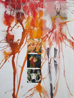 Sketchbook Layout, Textiles Sketchbook, Fashion Design Sketchbook, Fashion Sketches, Flower Doodles, Doodle Flowers, Identity Art, Sketchbook Inspiration, Watercolor Sketch