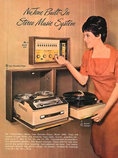 vinylespassion: NuTone Built-In Stereo Music System.