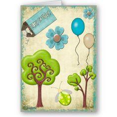 A Whimsical Birthday Custom Greeting Cards