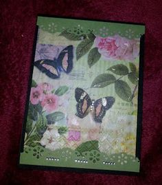 Using Beeswax and Napkins - stunning cards