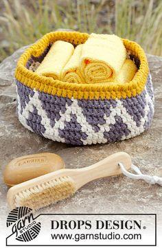 "Crochet Cotton Basket Aztec Pattern 8"" Diameter Custom Order Handmade (56.00 USD) by Silkwithasizzle"