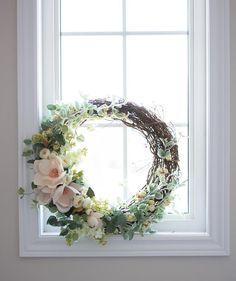 Front Door Wreath, Grapevine Wreath, Magnolia Wreath, Floral Wreath, Spring Wreath, Summer Wreath