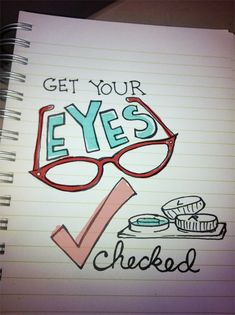 Checking your list? Make sure you've been in for your yearly eye exam! #eyemedics #vision #healthyeyes