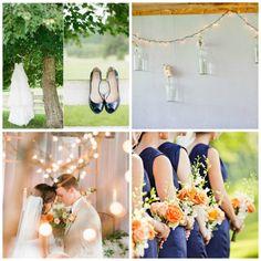 Navy & Peach Wedding Colors