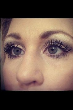 Real lashes! They are called 3D Fiber Lashes by Younique! You'll see 300% increase to your lashes...order today at allnaturalbeautybysarah.com