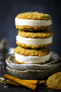 Spiced Oatmeal Cookie Ice Cream Sandwiches | What Should I Make  For...