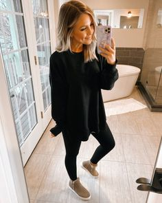 Mom Outfits, Casual Fall Outfits, Everyday Outfits, Cute Outfits, Fashion Outfits, Trendy Outfits, Winter Outfits, Comfy Legging Outfits, Leggings Outfit Winter