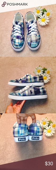 Polo Ralph Lauren Shoes ✔️ Comes from a smoke-free home ❌ No trades or holds ✔️ Items priced $10 & under are final price ✔️ Please send price offers through Poshmark's negotiation system. ✔️ Poshmark Suggested User ✔️ Top-Rated Seller ✔️ Fast Priority Mail Shipping Polo by Ralph Lauren Shoes Sneakers