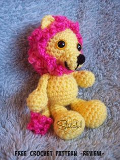 Little Bigfoot Lion – Review- Free Pattern
