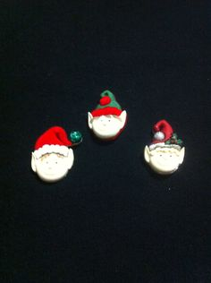 Christmas Elves Plastic Buttons/ Sewing supplies / DIY supplies / Novelty Buttons / Party Supplies /Christmas craft supplies