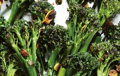 Charred Broccolini With Garlic-Caper Sauce Recipe  [use more oil in place of butter]