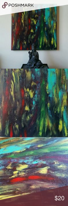 Original artwork canvas painting wall art Original artwork on canvas with acrylic  Make any room interesting with these good vibes on the wall.   # art, artwork, acrylic, painting, canvas, wall art, home decor Other