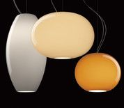 The Foscarini New Buds collection, designed by Rodolfo Dordoni, is set of three blown-glass lights in soft, muted shades.