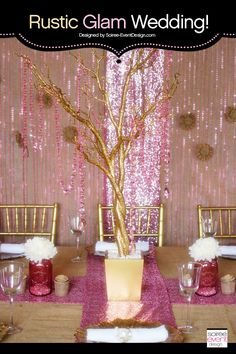 Trend Alert: Rustic Glam Pink & Gold Wedding styled by Tonya Coleman of Soiree Event Design for Koyal Wholesale