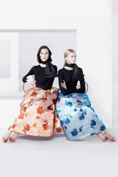 Raf Simons unveils his first Christian Dior campaign, photographed by friend Willy Vanderperre. The adverts star relatively unknown models, Anna Martynova, Marie Piovesan, Daiane Conterato and Daria Strokous.