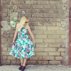 flower 80s dress