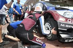 WRC Rally México - Qatar M-Sport Ford Rally Team - T. Neuville and N. Klinger: fast pit stop! #OZRACING