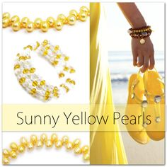 Sunny Yellow Pearls