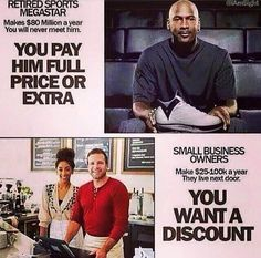There is an issue with paying incredible dollars for a pair of sneaks from an athlete and then wanting to nickel and dime a small business that may exist in the community. Mike doesn't need it the small business does. Wise Men Say, Support Local Business, News Blog, Thought Provoking, Real Talk, Knowing You, First Love, Social Media, Thoughts