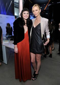 Nasty Gal  Nasty Gal Founder Sophia Amoruso and Actress Charlize Theron attends the Nasty Gal Melrose Store Launch on November 20, 2014 in Los Angeles, California.  http://www.latimes.com/fashion/la-ig-nasty-gal-20141221-story.html#page=2&lightbox=82352741