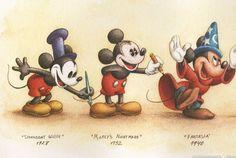 Evolution of Mickey