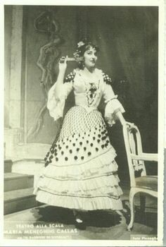 Maria Callas as Rosina in Il Barbiere di Siviglia, La Scala | [photographer…