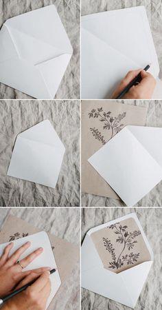 Ideas for wedding rustic invitations diy envelope liners Wedding Invitation Envelopes, Vintage Wedding Invitations, Rustic Invitations, Wedding Stationery, Invitation Ideas, Invitation Templates, Invitation Cards, Invitation Wording, Shower Invitation