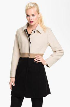 Fleurette Colorblock Wool Walking Coat (Petite) | Nordstrom