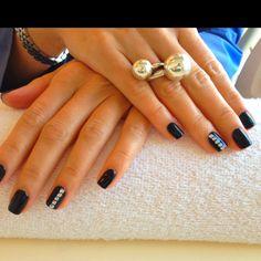 Black shiny bio sculpture nails Bio Gel Nails, Gel Nail Art, Bio Sculpture Nails, Nail Stuff, Some Ideas, Nail Polish Colors, Claws, Nail Ideas, Hair And Nails