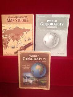 Abeka gr 9 grammar composition iii student quizzestests set of 2 abeka world geography student bk student quizzes tests map studies wkbk gr 9 gumiabroncs Image collections