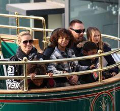 La top Heidi Klum con su chico, Martin Kristen, y sus hijosLeni, Henry, Johan y Lou