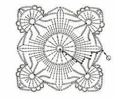 Graficos y Crochet: túnica en blanco