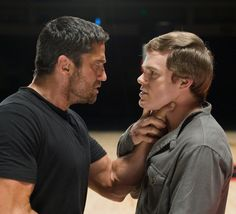 "MichaelCHallPics — Michael C. Hall and Gerard Butler in ""Gamer"""
