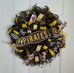 Pittsburgh Pirates wreath, baseball wreath.