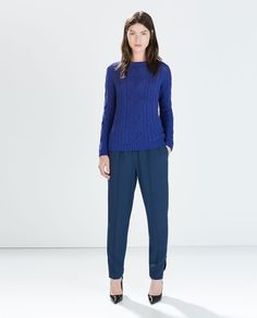 Image 1 of CABLE KNIT SWEATER from Zara