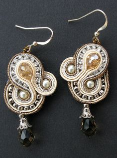 crystal regalia earrings by Cielo Design, via Flickr