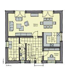 Fertighaus Buchenallee Variante 1 - Erdgeschoss