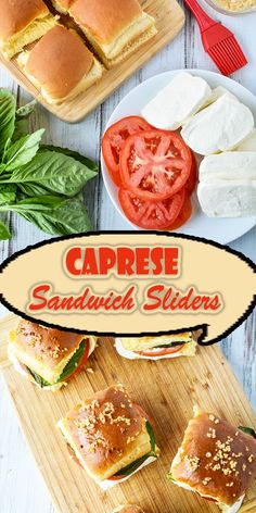 Caprese Sandwich Sliders – Hot From My Oven – Jennifer Space Slidders Recipes, Best Seafood Recipes, Veggie Recipes, Cooking Recipes, Veggie Meals, Caprese Sandwich Recipe, Appetizer Sandwiches, Mini Sandwiches, Appetizers