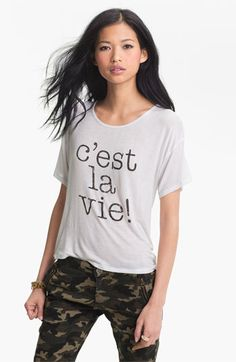 Ten Sixty Sherman Cest la Vie Tee (Juniors) available at #Nordstrom