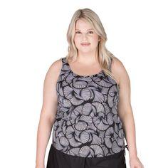 82c8842cfeb69 Wear Your Own Bra Plus Size Swimwear Top - Day Dreaming Tangerine ...