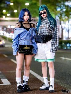 Mari and Airi on the street in Harajuku. by - Mari and Airi on the street in Harajuku… by - Tokyo Fashion, Japan Street Fashion, Harajuku Fashion, Street Style Trends, Asian Street Style, Tokyo Street Style, Street Styles, Harajuku Mode, Estilo Harajuku