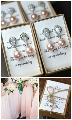 Pearl Bridal Earrings Soft Pink Blush Pearl Earrings Cubic Zirconia Sterling Silver Post Wedding Jewelry Bridesmaid Gift Pastel Rose Jewelry